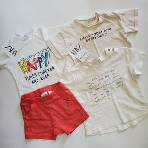 Zara Lot of 4 (6-9 mo.) - NEW!